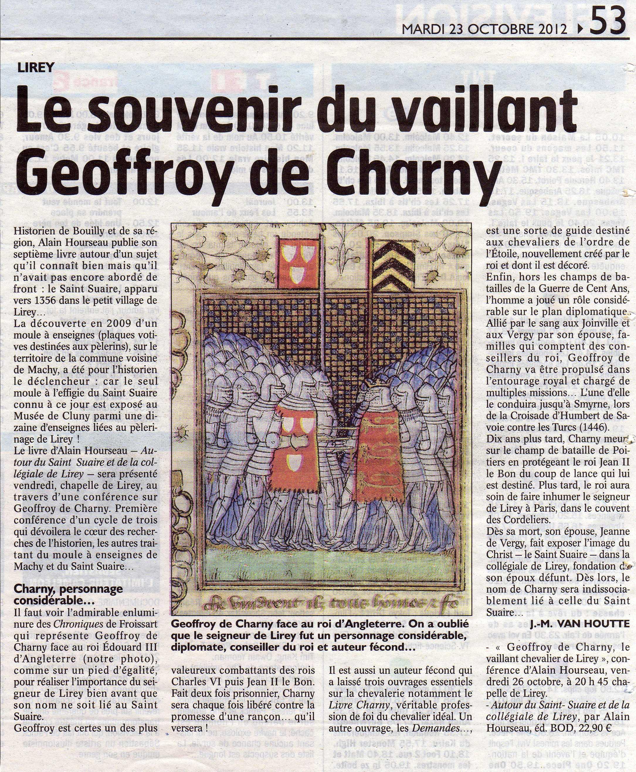 Image de l'article 'Le souvenir du vaillant Geoffroy de Charn'